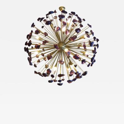Large garnets chandelier Murano Italy circa 1980