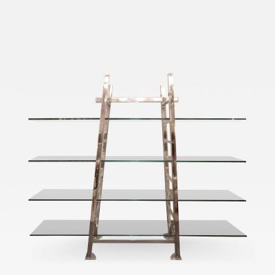 Large ladders shelf Italy 1970