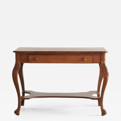 Larkin Co Solid Antique Oak Quartersawn Larkin Library Table with Drawer