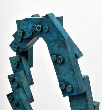 Larry Mohr Large Larry Mohr Nancee Abstract Bronze Sculpture 1994