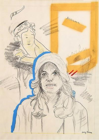 Larry Rivers Drawing of singer Carly Simon