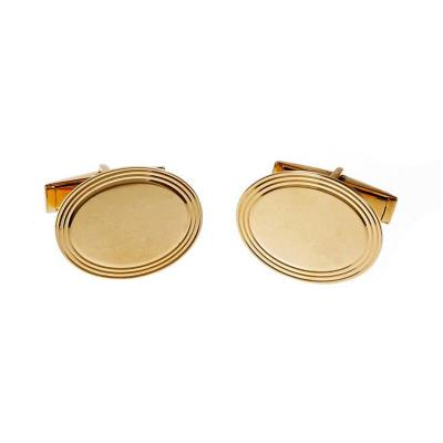 Larter Sons Oval Yellow Gold Cufflinks