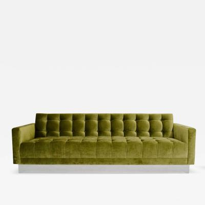 Las Venus Deeply Tufted Floating Velvet Sofa