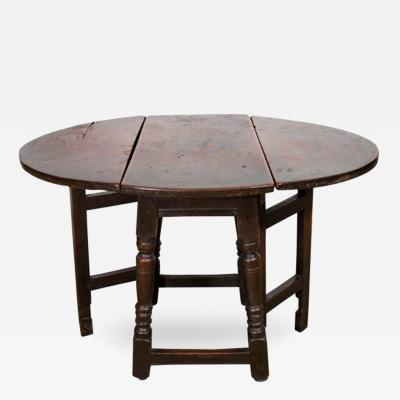 Late 17th Century English Chestnut and Walnut Gate Leg Side Table