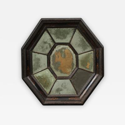 Late 17th Century Flemish Baroque Octagonal Mirror with Divided Mirror Plate