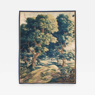 Late 17th Century Flemish Verdure Bleue or Blue Verdure Tapestry Circa 1690