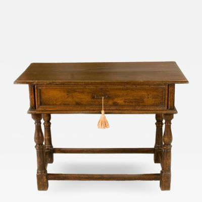Late 17th Early 18th Century Italian Table with One Drawer