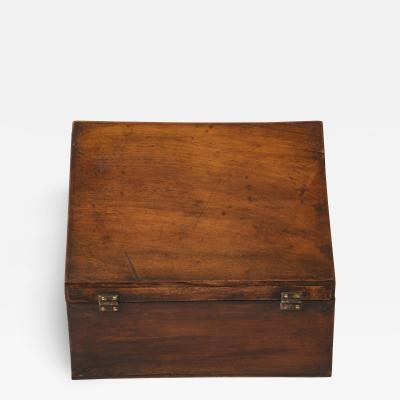 Late 18th C Walnut Letter Box Italy