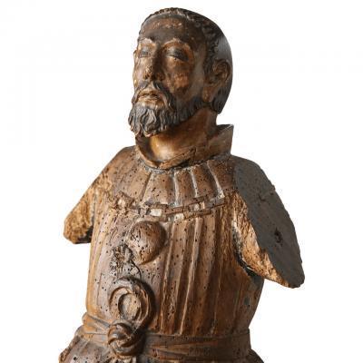 Late 18th Century Carved Italian Santo