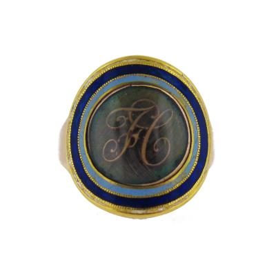 Late 18th Century H Initial Morning Ring