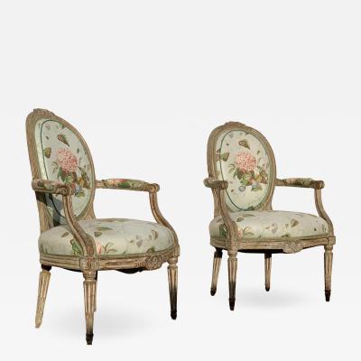 Late 18th Century Louis XVI Period Armchairs a Pair