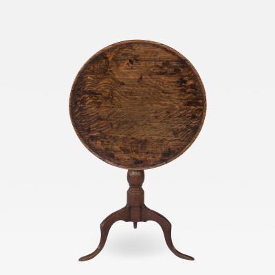 Late 18th Century Oak Tilt Top Tripod Table