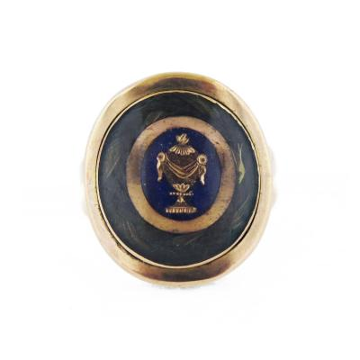 Late 18th Century Urn Morning Ring