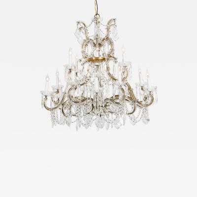 Late 19th Century Cut Crystal 18 Light Hanging Chandelier