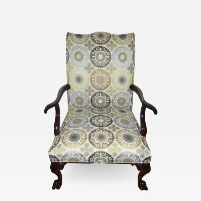 Late 19th Century English Gainsborough Style Library Armchair