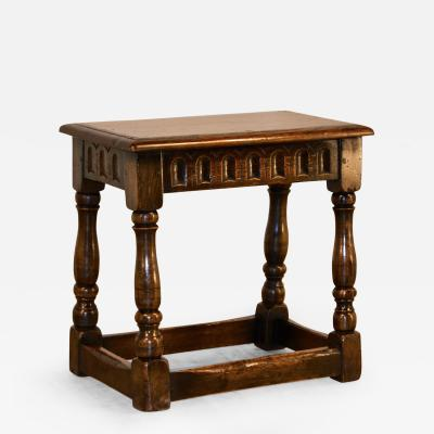 Late 19th Century English Oak Joynt Stool