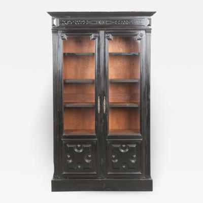 Late 19th Century French Arts and Crafts Ebonized Biblioth que