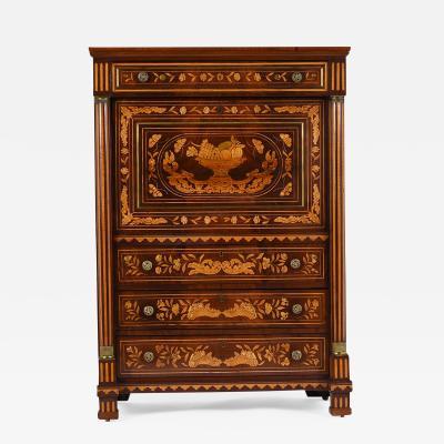 Late 19th Century French Secretaire Abbatant Desk