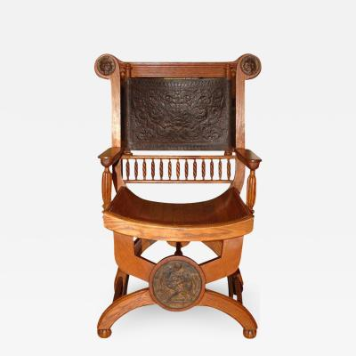 Late 19th Century Grecian Revival Arm Chair