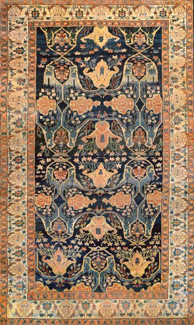 Late 19th Century Handwoven Wool Bidjar Rug