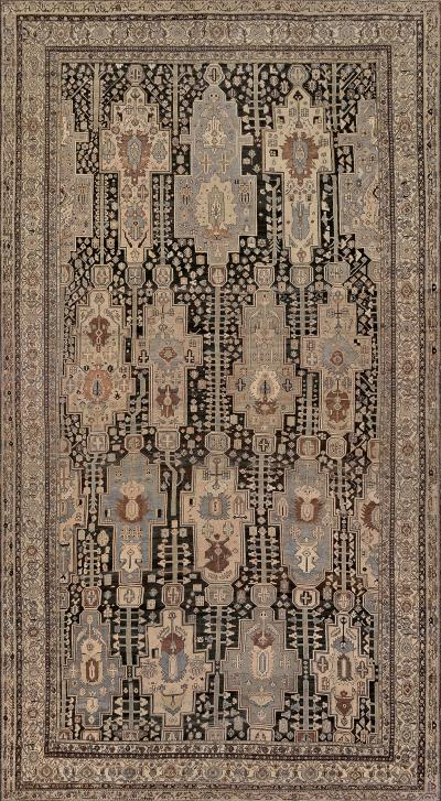 Late 19th Century Handwoven Wool Persian Malayer Rug
