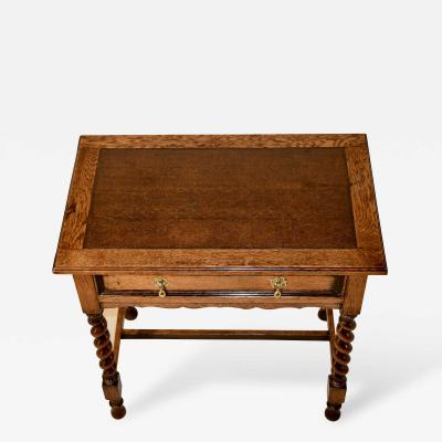 Late 19th Century Leather Top Table