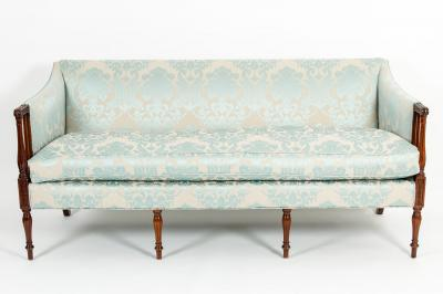 Late 19th Century Mahogany Framed Goose Down Filled Sofa