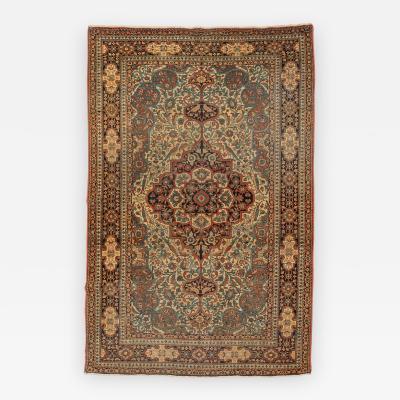 Late 19th Century Persian Wool Rug Keshan circa 1900