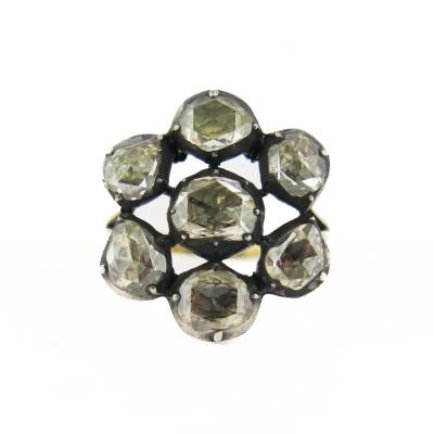 Late 19th Century Style Cluster Ring
