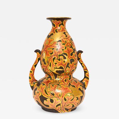 Late 19th early 20th Century Japanese Meiji Satsuma ceramic vase
