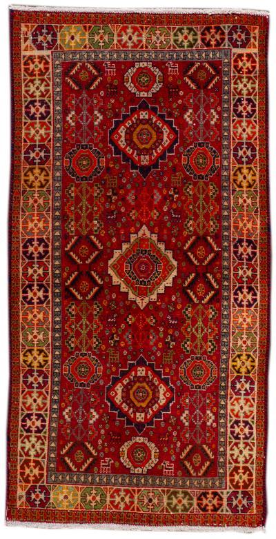 Late 20th Century Antique Heriz Wool Rug 3 x 5