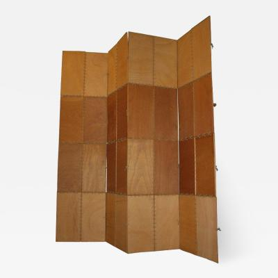 Late 20th Century Four Panel Room Divider or Screen by Designer Yamo