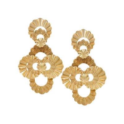 Late 20th Century Gold Earrings