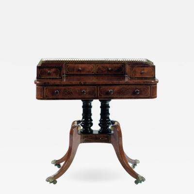 Late Regency 19th century Mahogany Writing Table Carlton House Desk
