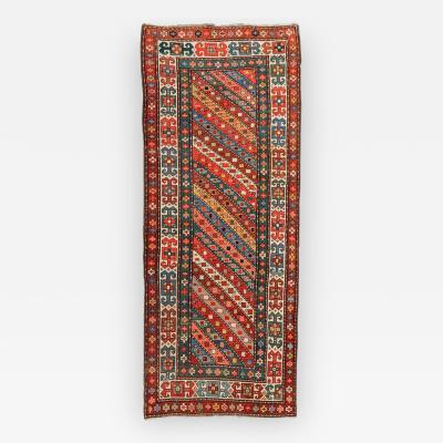 Late S XIX Antique Shivan Caucasian Rug Geometric Design