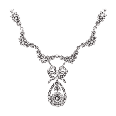 Late Victorian Splendid Garland Style Diamond Necklace