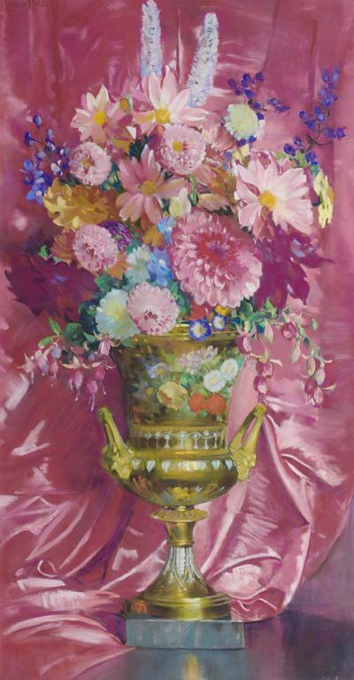 Laura Coombs Hills Flowers in an Old Paris Vase
