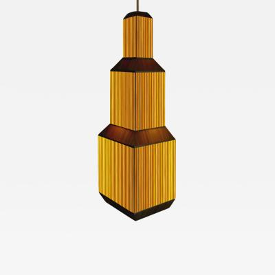 Laura Portarrieu PALEA PL02 Straw marquetry pendant