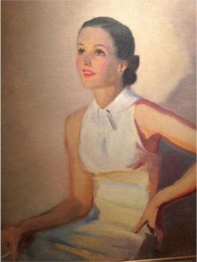 Laurence Wilbur Laurence Wilbur Portrait Painting