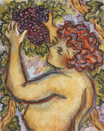 Laurent Marcel Salinas Untitled Nude with Grape Vines