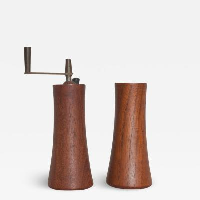Laurids L nborg Teak Wood Salt Shaker Pepper Mill by Laurids Lonborg of Denmark
