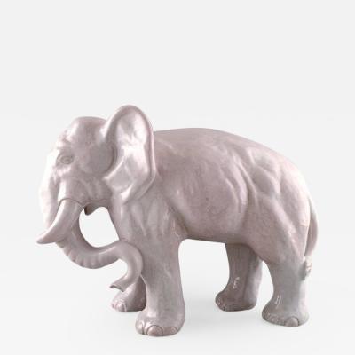 Lauritz Adolph Hjorth Glazed stoneware figure large elephant