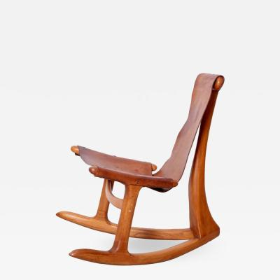 Lawrence B Hunter Lawrence Hunter Studio Rocking Chair USA circa 1965