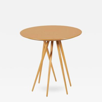 Lawrence Laske Spindle Legged Maple Toothpick Table by Lawrence Laske for Knoll