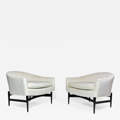Lawrence Peabody Pair of Lounge Chairs by Lawrence Peabody