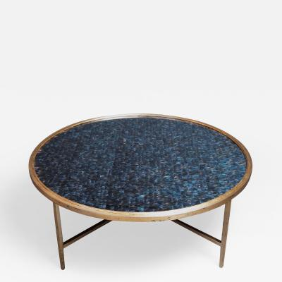 Lawton Mull Circular Daedalus Coffee Table by Lawton Mull