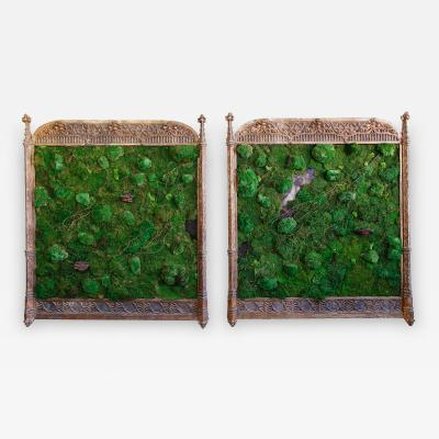 Lawton Mull Pair of Moss Follies by Lawton Mull