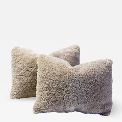 Lawton Mull Shearling and Linen Lumbar Pillow
