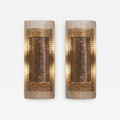 Layered Murano Smoked Glass Sconces