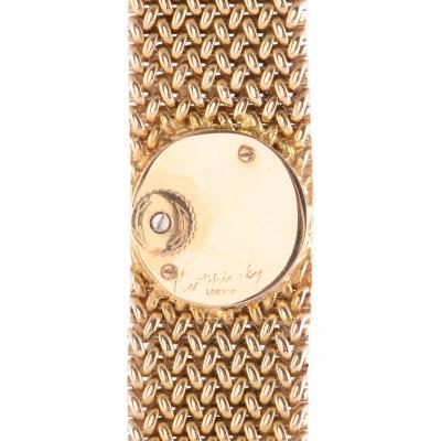 Le Coultre 18 Karat Gold Diamond Ladies Wrist Watch